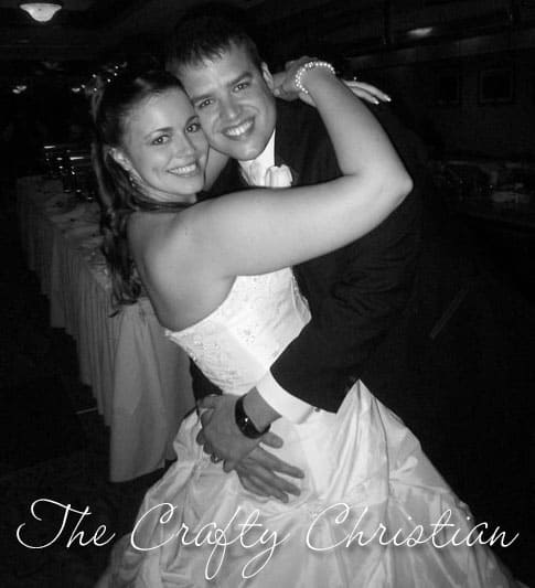 Stefani and her husband dancing at their wedding reception