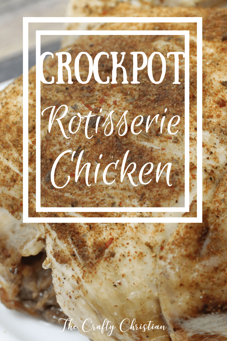 Rotisserie chicken is always a great choice for dinner, because it goes with absolutely EVERYTHING.  But making your own rotisserie chicken (in the crockpot?!) is even better because you can make sure you're using high quality chicken!  Then you can save the bones for healing broth too.  This recipe is amazing!