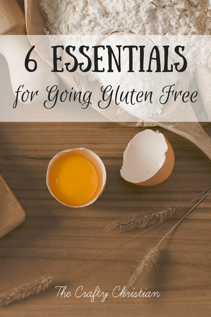 Gluten free flour with spoon and a cracked open egg