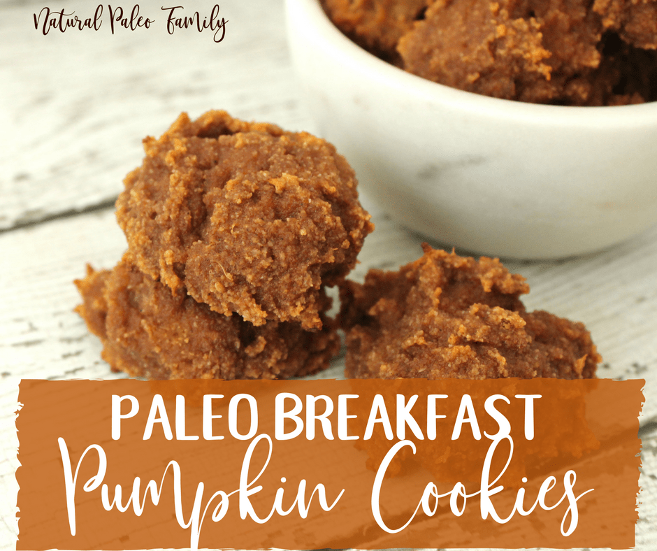 pile of paleo breakfast pumpkin cookies, healthy gluten free cookies
