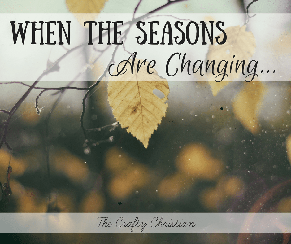 When the seasons are changing, we get to start again. We go through sunny times and rainy times, and they all teach us a lesson.