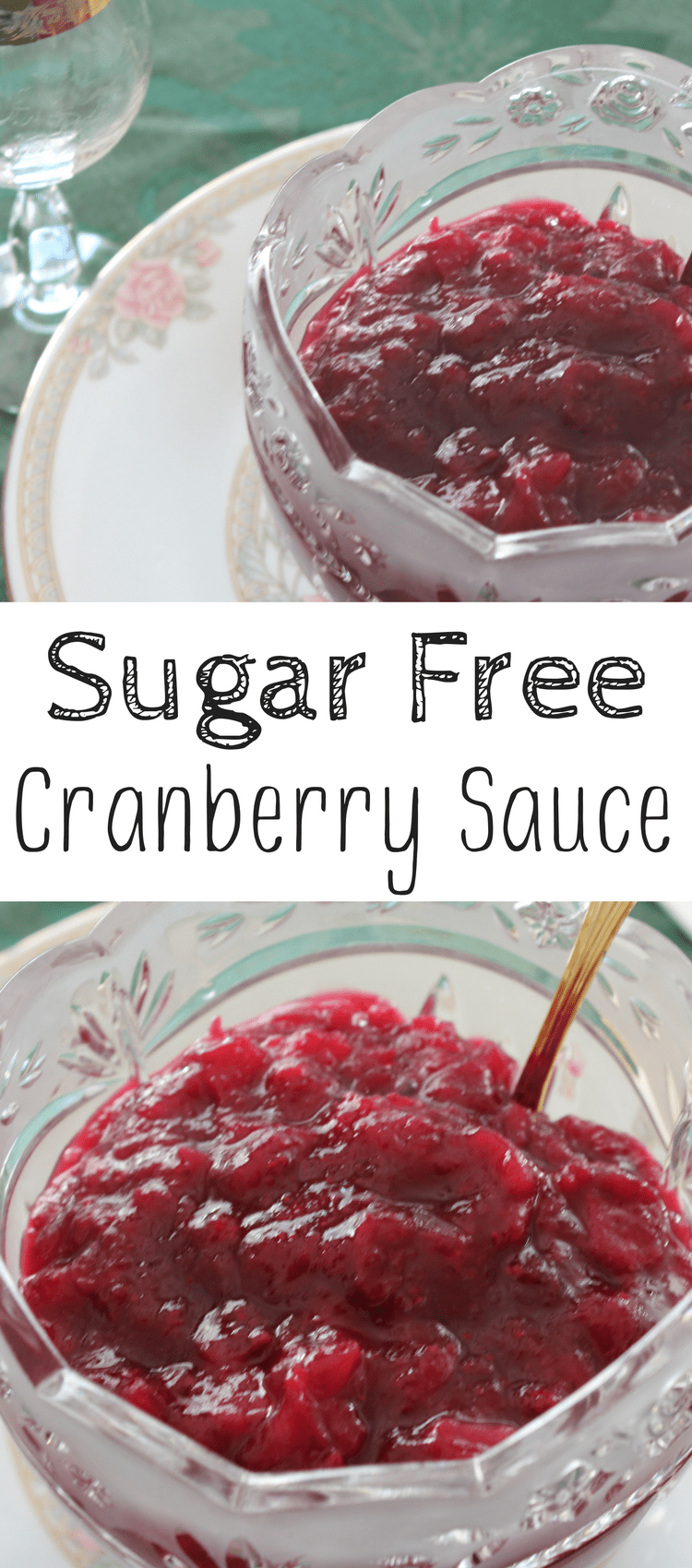 Cranberry sauce is always on the table during the holidays.  Though the traditional stuff has sugar in it, this sugar free cranberry sauce is sure to wow all of your guests.  And bonus- it's so easy!