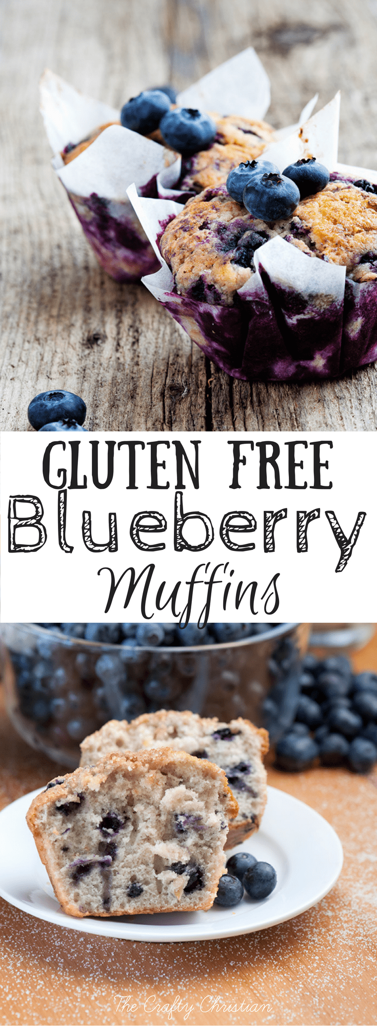 If you're looking for a great, easy breakfast recipe that your kids will love, look no further!  These gluten free blueberry muffins are perfect for Christmas morning, or any other special occasion!
