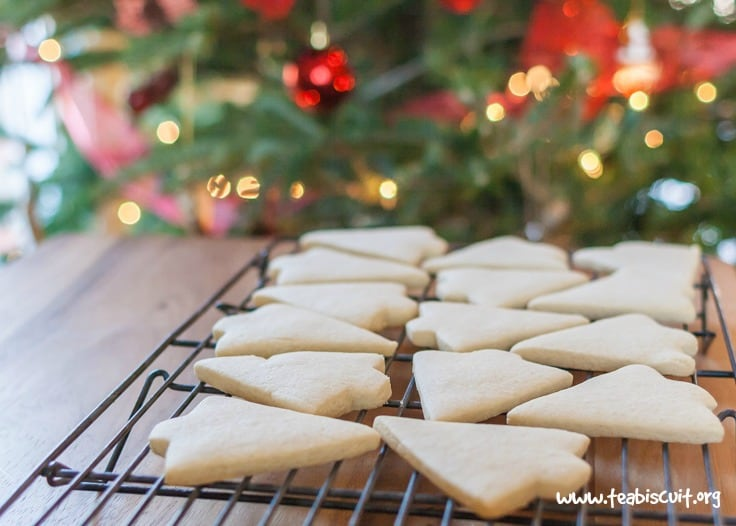 cutout cookies cooling on a rack