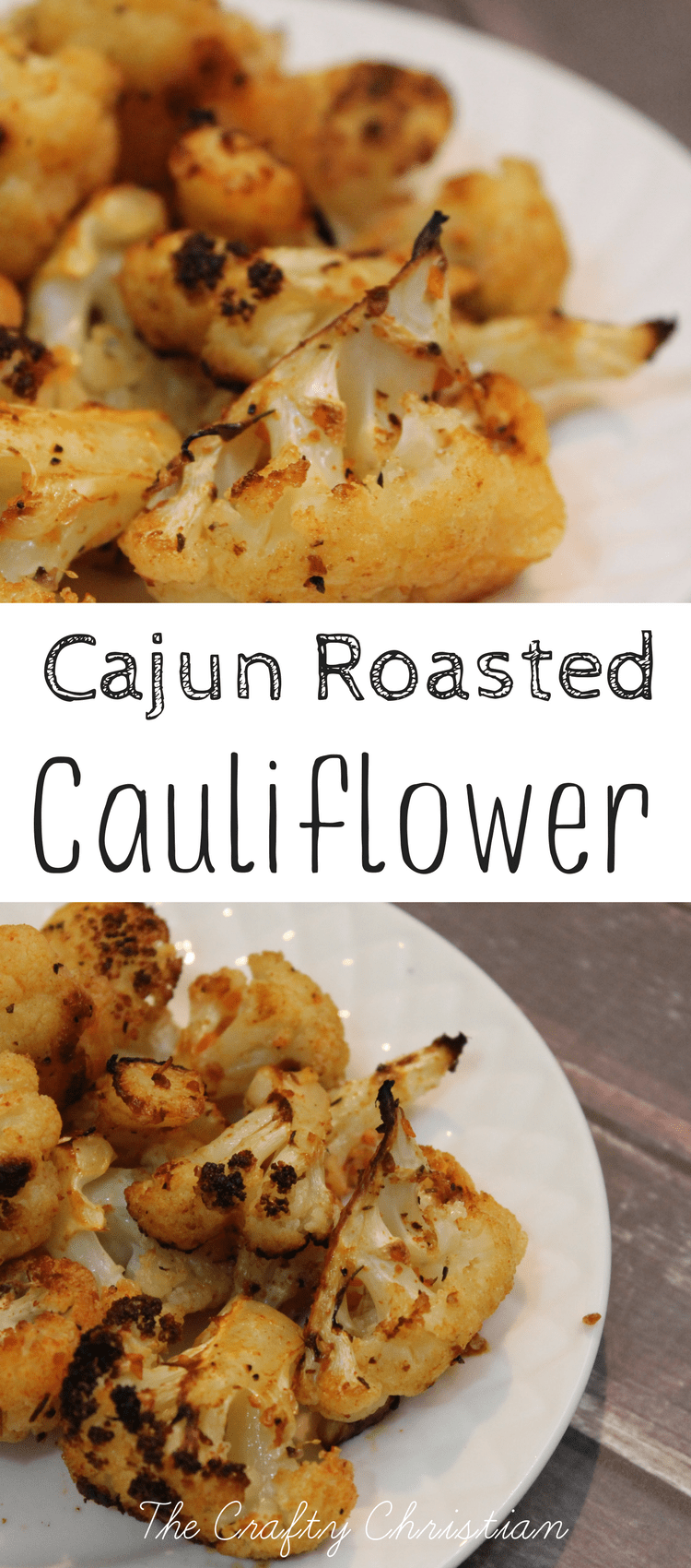 Cauliflower has great health benefits, but it doesn't always taste good.  This cajun roasted cauliflower recipe is easy and delicious; give it a try!