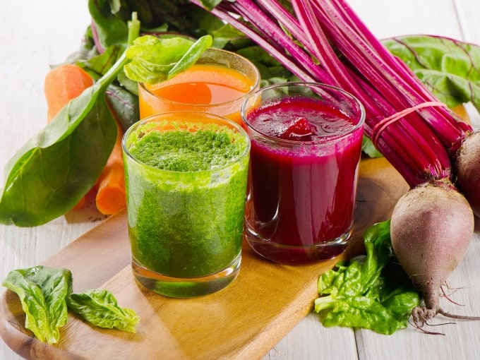 fresh vegetable juices