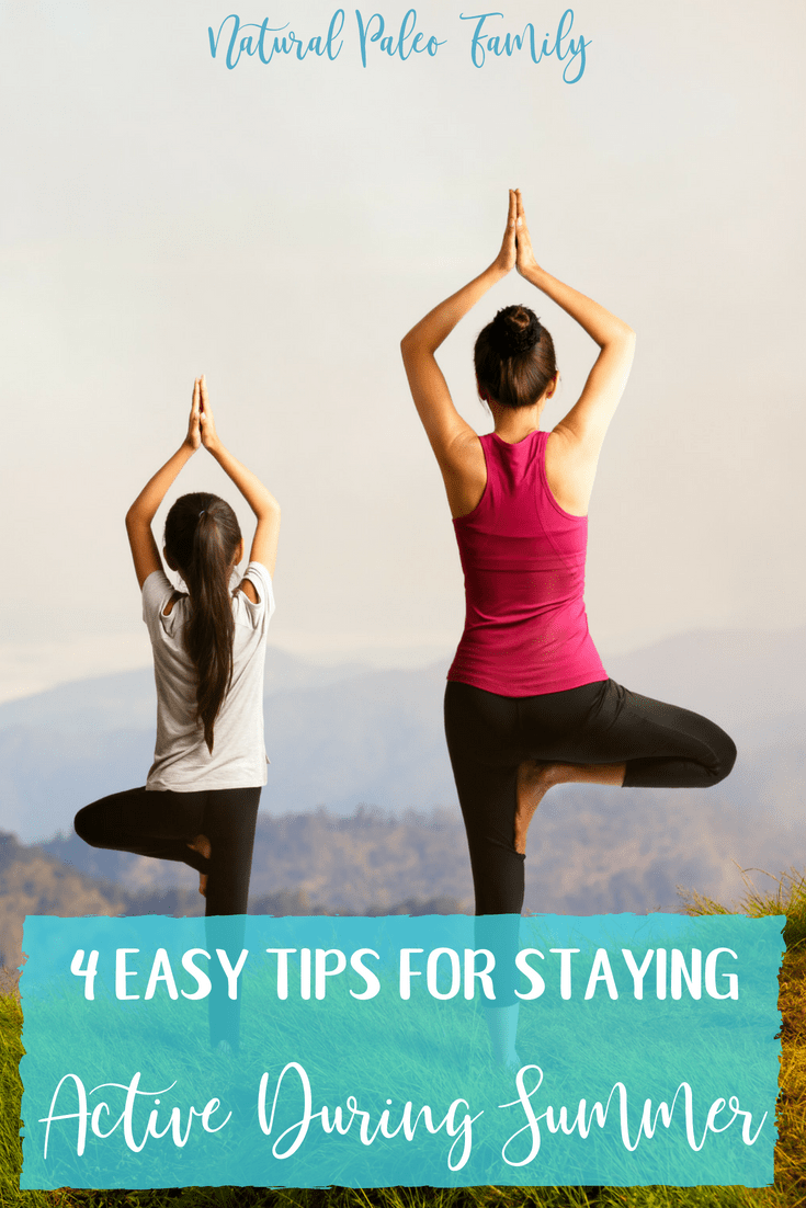 Summer is good for outdoor activities, but it often gets too hot for me to want to go outside. So here's 4 easy tips for staying active during summer.