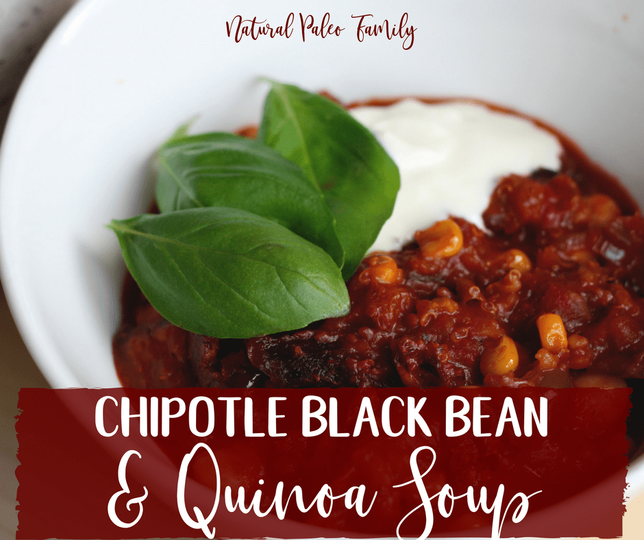 Sometimes you want to host a huge cook-off… and sometimes you just want to throw whatever's in your kitchen into a pan, serve it up to the family and hope for the best. This chipotle black bean quinoa soup is definitely for the latter. It's quick, it's easy, but boy it's tasty. Furthermore, it's healthy and satisfying enough to eat without any need to feel guilty. Plus, it'sgluten-free!
