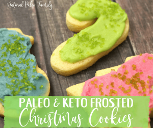 assorted paleo & keto frosted christmas cookies