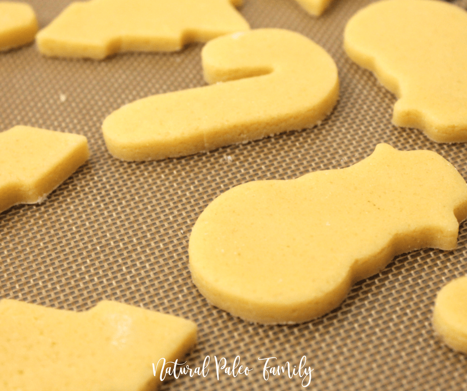 paleo cutout christmas cookies, keto christmas cookies ready to bake