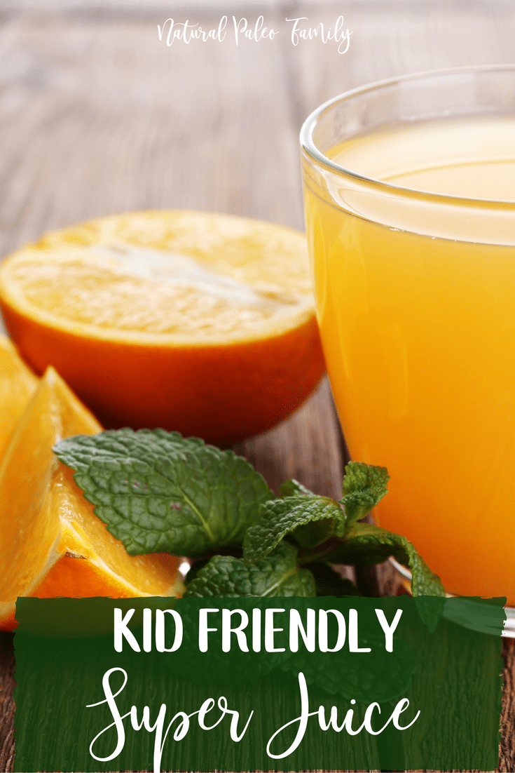 I make my kids a special health-juice every day to help boost their immune systems.  These ingredients are what I choose for my specific kids for various reasons, so you can use it as a starting point and then add or remove ingredients as you feel necessary. Superjuice is super-customizeable!